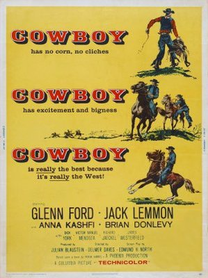 Cowboy movie poster (1958) poster MOV_6f6b893f
