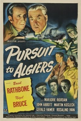 Pursuit to Algiers movie poster (1945) poster MOV_71df967e