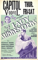 A Lady Surrenders movie poster (1930) picture MOV_71faa9f3