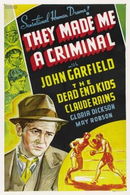 They Made Me a Criminal movie poster (1939) poster MOV_72f09a96