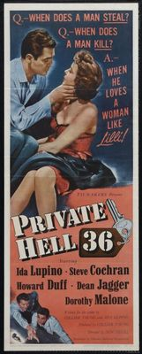 Private Hell 36 movie poster (1954) poster MOV_72f2b955