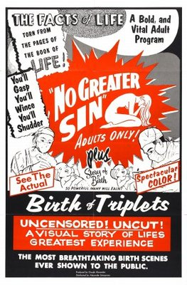 No Greater Sin movie poster (1941) poster MOV_736ed27f
