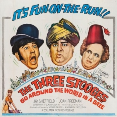 The Three Stooges Go Around the World in a Daze movie poster (1963) poster MOV_7429a326