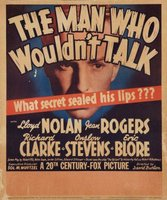 The Man Who Wouldn't Talk movie poster (1940) picture MOV_779503e1