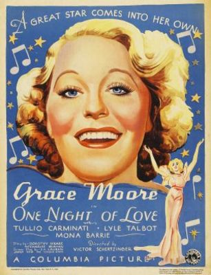 One Night of Love movie poster (1934) poster MOV_7839b236