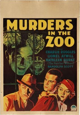 Murders in the Zoo movie poster (1933) poster MOV_7a257aa7