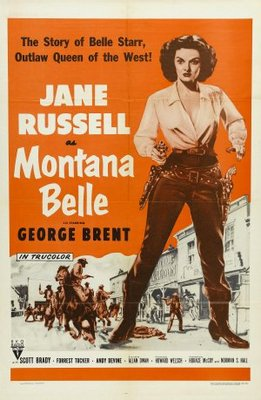 Montana Belle movie poster (1952) poster MOV_7cd0f16f