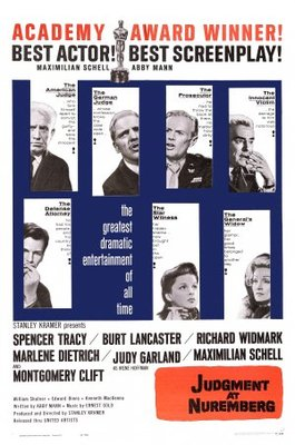 Judgment at Nuremberg movie poster (1961) poster MOV_83363483