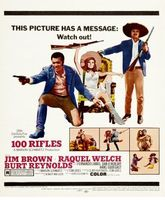 100 Rifles movie poster (1969) picture MOV_870a6064
