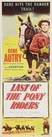 Last of the Pony Riders movie poster (1953) picture MOV_899ada5e