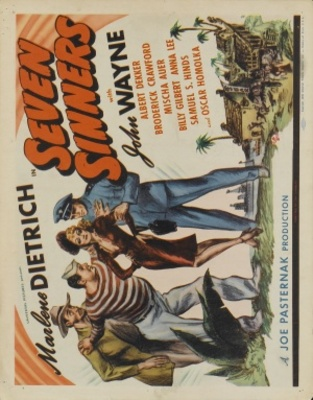 Seven Sinners movie poster (1940) poster MOV_8bf007db
