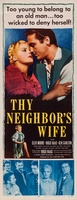 Thy Neighbor's Wife movie poster (1953) picture MOV_8bf0ba79