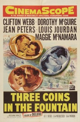 Three Coins in the Fountain movie poster (1954) poster MOV_8c7cdf07