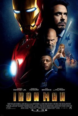 Iron Man movie poster (2008) poster MOV_8d5ab2a5