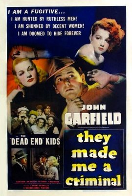 They Made Me a Criminal movie poster (1939) poster MOV_90430148