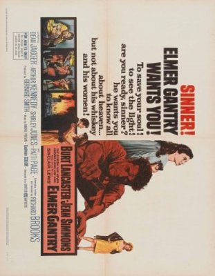 Elmer Gantry movie poster (1960) poster MOV_911a352b