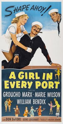 A Girl in Every Port movie poster (1952) poster MOV_93f02076