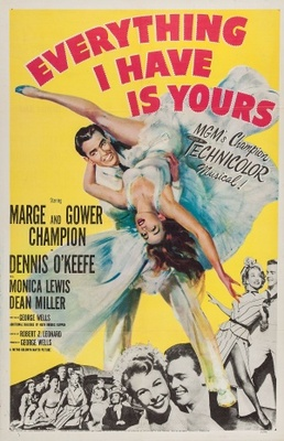 Everything I Have Is Yours movie poster (1952) poster MOV_94685e04