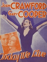 Today We Live movie poster (1933) picture MOV_95a6183c