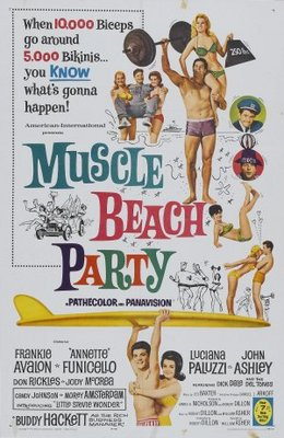 Muscle Beach Party movie poster (1964) poster MOV_9671b3e7