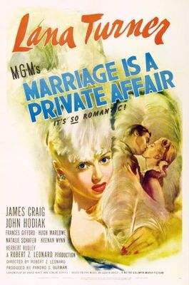 Marriage Is a Private Affair movie poster (1944) poster MOV_98210e96