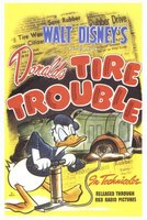 Donald's Tire Trouble movie poster (1943) picture MOV_988130ca