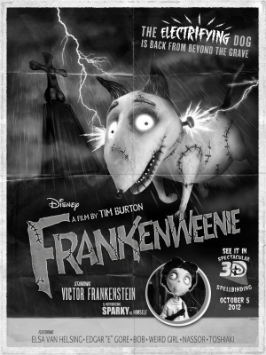 Frankenweenie movie poster (2012) poster MOV_9ab22e29