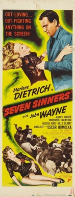 Seven Sinners movie poster (1940) poster MOV_9bbae4e2