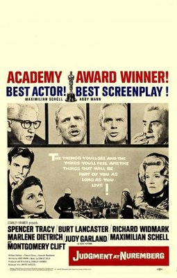 Judgment at Nuremberg movie poster (1961) poster MOV_9d0f2e10