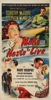 Make Haste to Live movie poster (1954) picture MOV_9da7cfeb