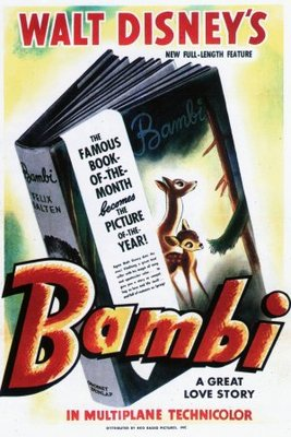 Bambi movie poster (1942) poster MOV_9f8a58be