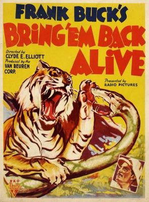 Bring 'Em Back Alive movie poster (1932) poster MOV_a08e6eec