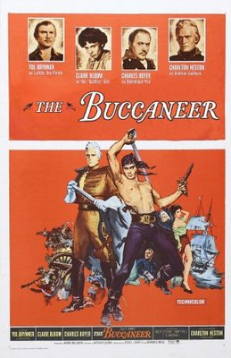 The Buccaneer movie poster (1958) poster MOV_a0ae780f