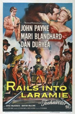 Rails Into Laramie movie poster (1954) poster MOV_a5e0444f