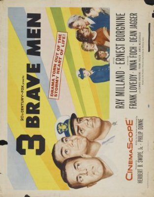Three Brave Men movie poster (1956) poster MOV_a735781f
