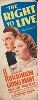 The Right to Live movie poster (1935) picture MOV_a9b1b1a4