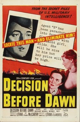 Decision Before Dawn movie poster (1951) poster MOV_abf229e7