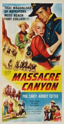 Massacre Canyon movie poster (1954) poster MOV_ad30ce4d