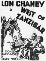 West of Zanzibar movie poster (1928) picture MOV_ad3b9cf0