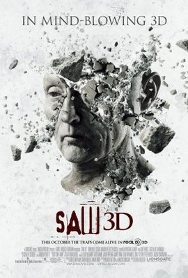 Saw 3D movie poster (2010) poster MOV_afacee77