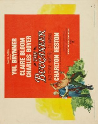 The Buccaneer movie poster (1958) poster MOV_b0e44411