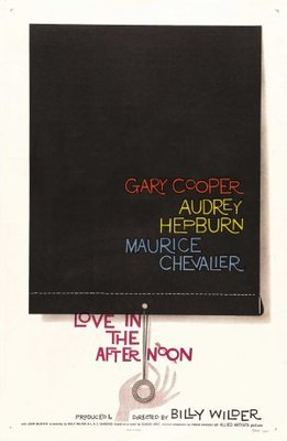 Love in the Afternoon movie poster (1957) poster MOV_b2b1cc7c