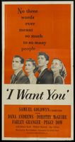 I Want You movie poster (1951) picture MOV_b43f5c25