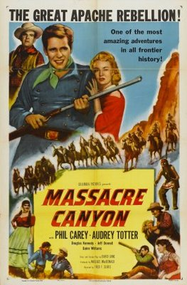 Massacre Canyon movie poster (1954) poster MOV_b8558f51