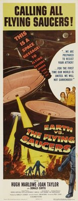 Earth vs. the Flying Saucers movie poster (1956) poster MOV_b965048b