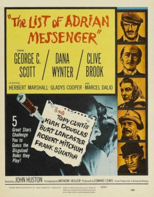 The List of Adrian Messenger movie poster (1963) poster MOV_ba4e02dd