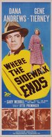Where the Sidewalk Ends movie poster (1950) picture MOV_bc84f1c9