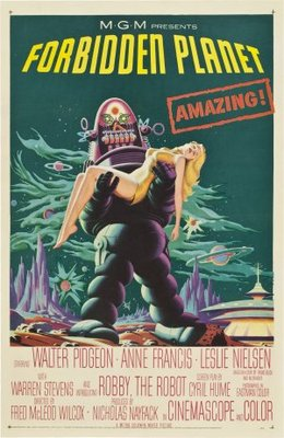 Forbidden Planet movie poster (1956) poster MOV_bea7df83