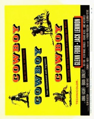 Cowboy movie poster (1958) poster MOV_bef63bc4