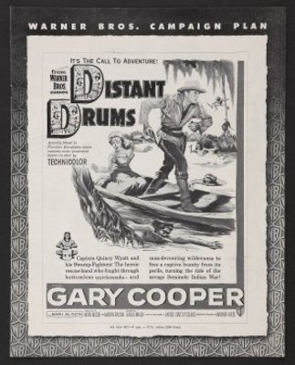 Distant Drums movie poster (1951) poster MOV_c031dc53